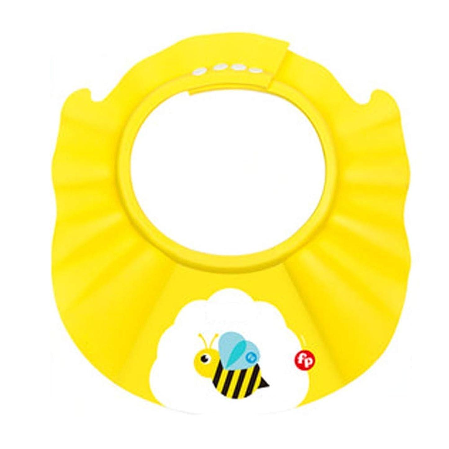返還通信網八Zhenxinshiyi カラーベビーウォッシュヘアアーティファクト防水耳プロテクターベビーチャイルドシャワーキャップ子供風呂シャンプーキャップ調整可能ソフトライト増加肥厚10ファイル調整可能 (Color : Yellow)