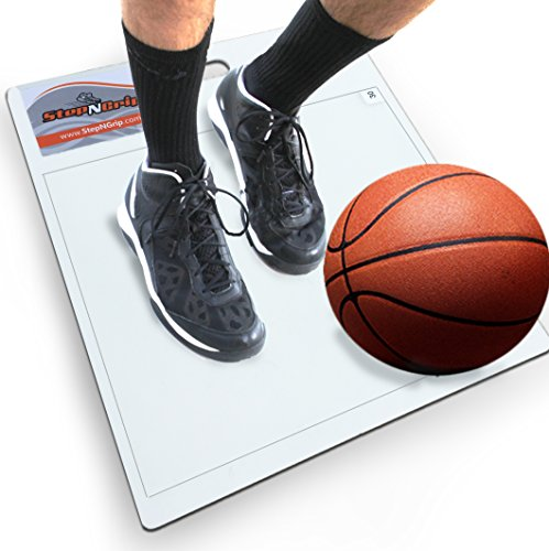 StepNGrip Model Courtside Shoe Grip Traction Mat - Basic Model with Sticky Mat - Uses Replacement 15x 18 Sheets, Allows Court Grip for Basketball Volleyball. Sticky Stop Power.