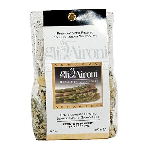 gli Aironi Risotto agli asparagi - Risotto mit grünem Spargel aus Carnaroli Reis 250gr