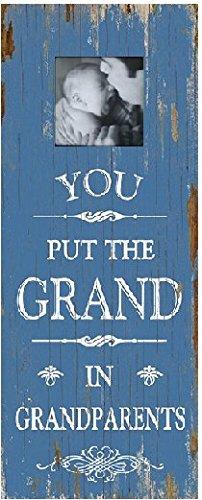 Grande décoration murale en bois cadre photo – Vous Mettez le Grand en grands-parents