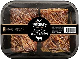 The Butcher's Dining Premium Roll Galbi, Korean Marinated Beef, 350g - Chilled