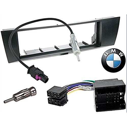 Sound-way Kit Montaje Autoradio, Marco 1 DIN Radio para Coche, Cable Adaptador...