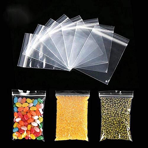 300 Stück wiederverschließbare Polybeutel Clear Durable Zipper Baggies Verdicken Sie Plastik-Reißverschlusstaschen für kleine Kleinigkeiten/Aufbewahrung in der Küche/Schmuckverpackung (8x12CM)