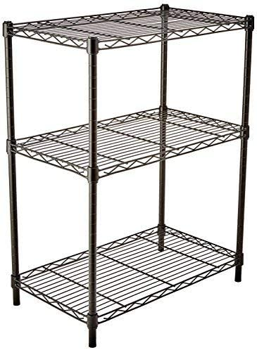 Amazon Basics 3-Shelf Adjustable, Heavy Duty Storage Shelving Unit (250 lbs loading capacity per shelf), Steel Organi...