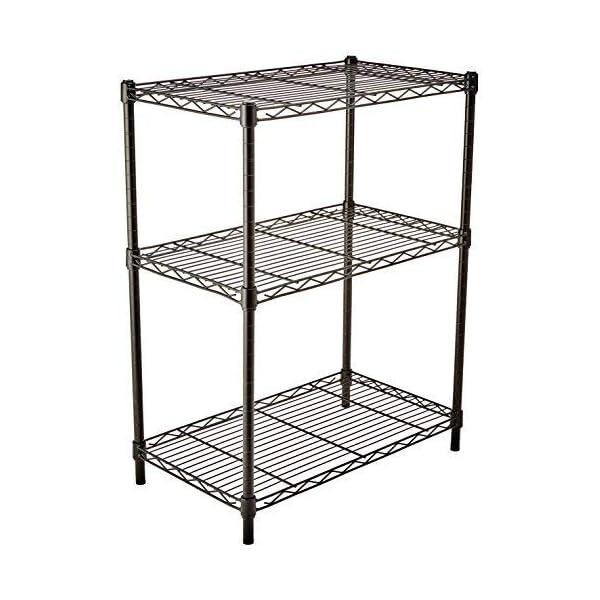 Amazon Basics 4-Shelf Adjustable, Heavy Duty Storage Shelving Unit, Steel Organizer...