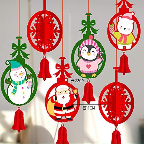 milkcha Christmas Decorations Indoor,Christmas Pendant Cartoon Santa Claus Christmas Tree Decorations Pendant,Christmas Decorations