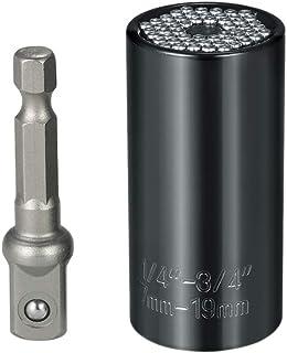 Andoer 7mm-19mm Multi-functional Universal Socket Metric Wrench Power Drill Adapter Socket Set Professional Repair Tools