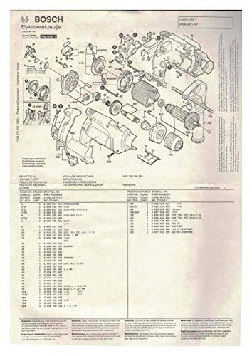 Bedienungsanleitung + Explosionszeichnung mit Ersatzteilliste PSB 650 RPE und RE - Bohrmaschine Bosch 2609931887 -- (12.99) O (DR 01.00)