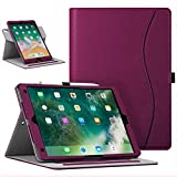 Fintie Case for iPad Air (3rd Gen) 10.5' 2019 / iPad Pro 10.5' 2017 - [Corner Protection] 360 Degree Rotating Smart Protective Stand Cover with Pocket, Pencil Holder, Auto Sleep/Wake, Purple