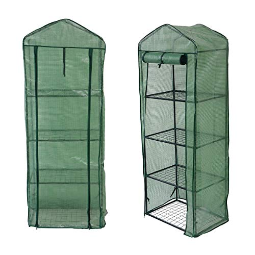 Weatherproof Tomato Plant Greenhouse Outdoor Indoor Grow-tent - 3 sizes by Crystals® (4 Tier Greenhouse - Small)