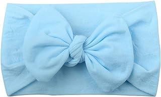 NXYJD Baby Girl Nylon Bandeaux Nouveau-né Infant Toddler Hairbands Enfants Arcs Pétale Fleur noué Doux Headwrap Accessoire...