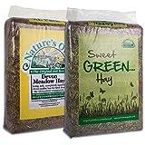 Tigerbox Natures Own 3.5 Kilogram Meadow Hay and 3.5 Kilogram Sweet Green Hay Small Animal Pet Bedding Food