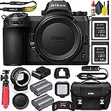 Nikon Z7 Mirrorless Digital Camera (Body Only) (1591) with Nikon FTZ Lens Mount Adapter, Nikon Bag, Nikon MC-DC2 Remote, 2 Sony 64GB XQD Memory Cards, Extra Battery, Led Light and More (Renewed)