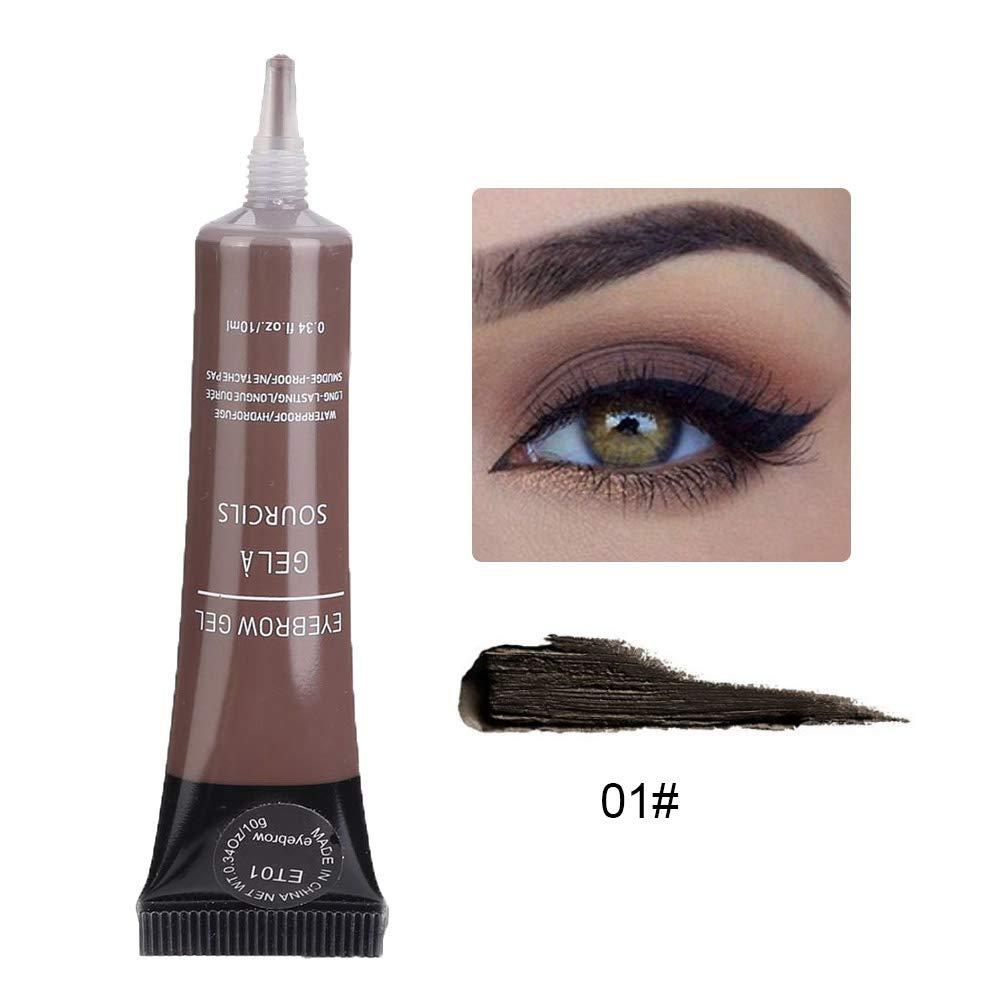 ビット弾性活性化する眉毛のクリーム 4色の眉毛 クリーム ゲル 防水長続きがする眉毛の染料のクリームの化粧品の美用具(ET01)