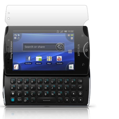 Slabo 2 x Pellicola Protettiva per Display per Sony Ericsson Xperia Mini PRO Crystal Clear Invisibile