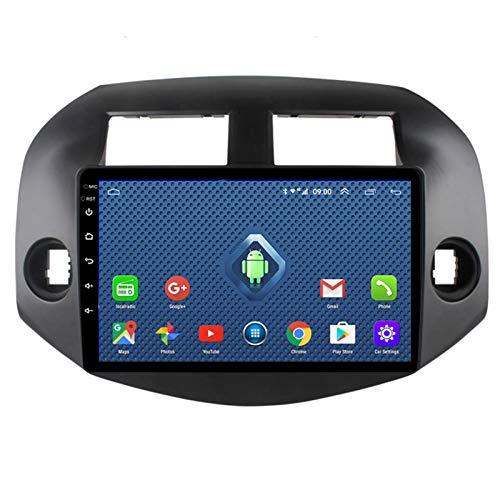YSSSZ Navegador GPS para automóvil Radio estéreo DVD para Toyota RAV4 2007-2012, Pantalla táctil de 9 Pulgadas Soporte de navegación por satélite FM/Am/Bluetooth/Mapa / 4G WiFi,1G+32G