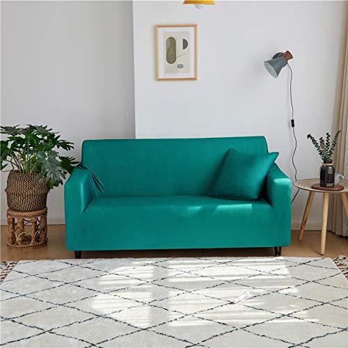 WXQY Funda de sofá elástica de Color sólido con Todo Incluido Funda de sofá Antideslizante protección para Mascotas Funda de sofá de Esquina en Forma de L A7 2 plazas