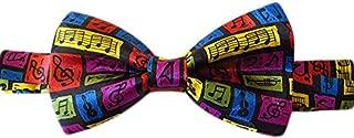 Steve Harris Mens Pre-Tied Adjustable Music Bowtie - Multicolor - One Size Bow Tie