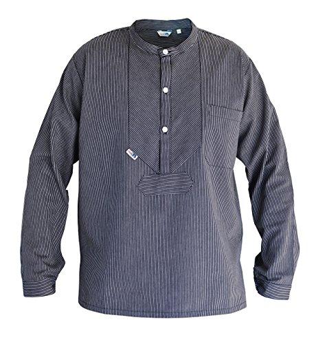 Modas Finkenwerder Fischerhemd BasicLine schmal gestreift, Größe:XL