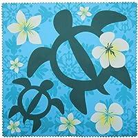 コネクト メガネ拭き KD 20種類 マイクロファイバー 超極細繊維 システムクロス 15A016 ホヌ 花柄 ブルー 15×15cm