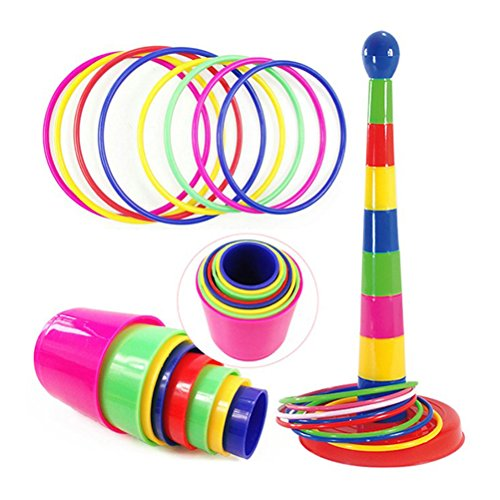 TOYMYTOY Ring Toss Game Plastic Intelligence Development Jue