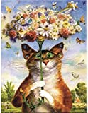 half stitch kits Cute cat tapestry embroidery set 40x50cm cross stitch embroidery set Include multilayer cotton thread [] Bordado con aguja 5D HD cod.294