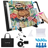 """A3 Magnetic Light Pad - Portable Tracing Light Box for Drawing - Professional Light Table with 4 Magnets, 0.27"""" Ultra-Thin Light Board with a Matching Bag & USB Cable for Diamond Painting, X-ray View"""