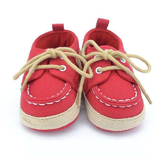 Baby Schuhe Babyschuhe Erstschuhe Baumwolle Lauflernschuhe Schnürschuhe (3, Jeansblau)