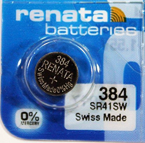 Renata / Swatch Group - Knopfzelle Silberoxid 384 RENATA 1.55V 45mAh - Blister(s) x 1