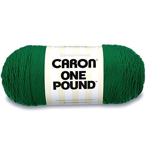 Caron One Pound Solids Yarn, 16oz, Gauge 4 Medium, 100% Acrylic - Kelly Green- For Crochet, Knitting & Crafting ( 1 Piece )