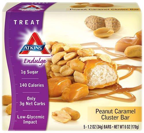 Atkins Endulge Peanut Caramel Cluster - 5 Bars, Low Carb, No Added Sug