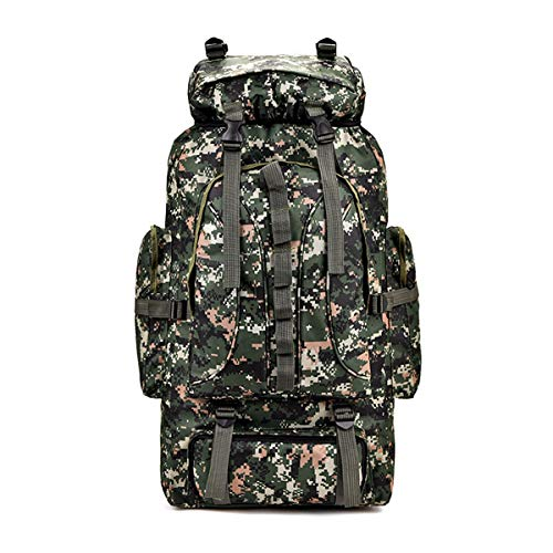 Ys-s Shop customization Large Capacity Outdoor Mountaineering Bag Military Camouflage Tactical Backpack Camping Hiking Bag (Color : 3)