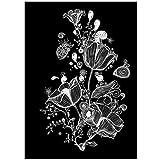 sjkkad Weiße Blumen Leinwand Gemälde Blumen Poster Drucke Wandkunst Bilder Dekor für Zuhause Metall Organisch Glas Druck auf Leinwand -50x70cm Kein Rahmen