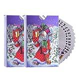 cheerfulus 2 Kartensätze Wasserdichtes Poker für Weihnachten