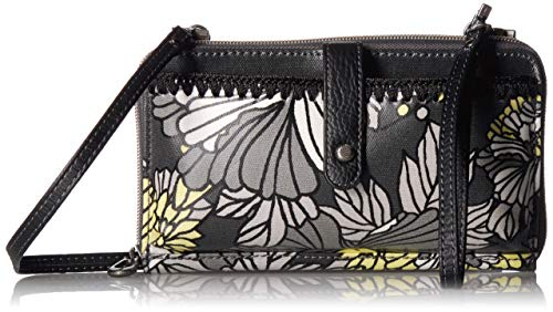 Sakroots womens Women's Artist Circle cross body handbags, Slate Floral Blossoms, One Size US