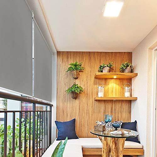 HENGMEI 140x240cm Tenda da Sole a Rullo Protezione dal Sole per Balcone e terrazza, Esterno Tende Verticali, Grigio