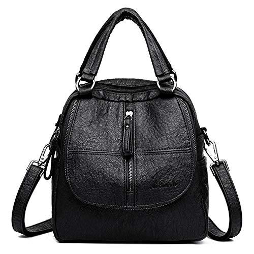 Jywmsc Damen Vintage Rucksack Weiches PU-Leder Handtasche High-End Doppelschicht...