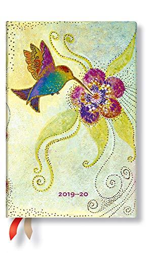 Paperblanks Planificador y calendario de 18 meses, julio de 2019 a diciembre de 2020, colibrí, semana tras semana (horizontal), mini (140 x 95 mm)