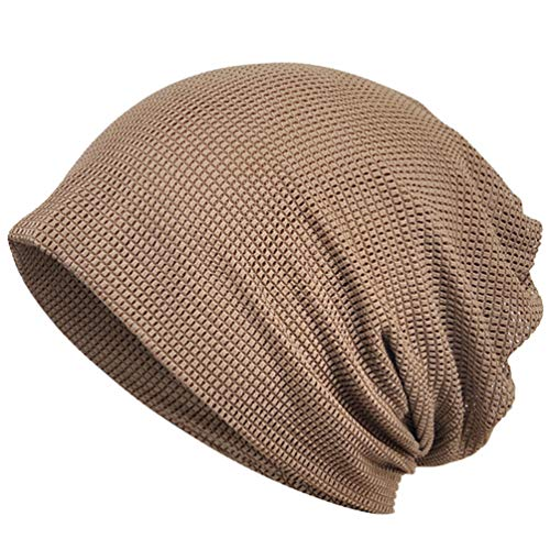NONE Frauen Turban Hut Lange Haare Wrap Motorhaube Krebs Chemo Beanie Atmungsaktiv Schweiß Wrap Kopftuch Hut