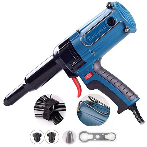 WKZWY-Jardín Funda Muebles Pistola Remachadora ciega Remachadora eléctrica, 220V / 400W Kit...