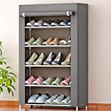 Bae Store Rack Multipurpose Rack Organizer for Shoe/Clothes/Books - (Need to Be Assemble - DIY) (5 Shelves) (Grey)