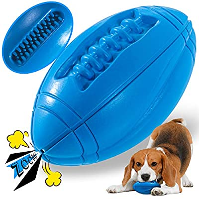 Apasiri Squeaky Dog Toys, Tough Dog Toys for Extreme Chewers, Dog Chew Toys for Large Dogs Almost Indestructible Dog Toys Ball Aggressive Chew Toys for Dogs Teething Toys for Puppies