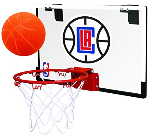 Rawlings NBA Game On Polycarbonate (PC) Mini Basketball Hoop Set, Los Angeles Clippers