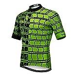 Maillot de ciclismo con manga corta para hombre (2021). Ropa de ciclismo para exteriores, bici de montaña - verde - pecho 88/94 cm = etiqueta M