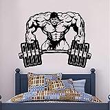xingzhi Fototapete Room Sticker Gym Gewichte Bodybuilding Muscle Man Crossfit 57 * 43 cm