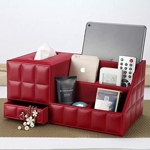 hsy Caja de Almacenamiento de bocadillos de Escritorio,Cestas para Cocina Organizador de cajones Wo Contenedores de Almacenamiento de Escritorio Cestas de Estante Almacenar lápices Cepillos Tocador