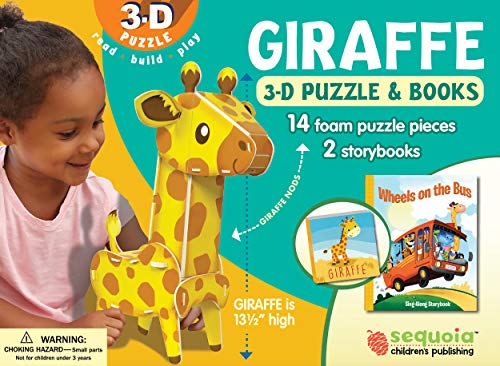 Giraffe: Wildlife 3D Puzzle and Books [With Puzzle]