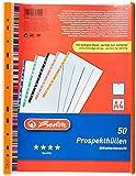 Herlitz 10914414 - Paquete de 50 portafolios de plástico A4, multicolor...