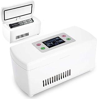 XJZHANG Bärbar Mini Isolin Kylskåp Låda Drogfrys USB-laddning för resor, bil, hem, inbyggt batteri