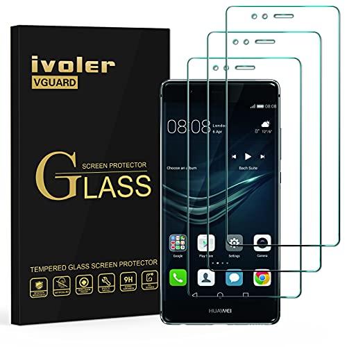 ivoler [3 Unidades] Protector de Pantalla para Huawei P9, Cristal Vidrio Templado...